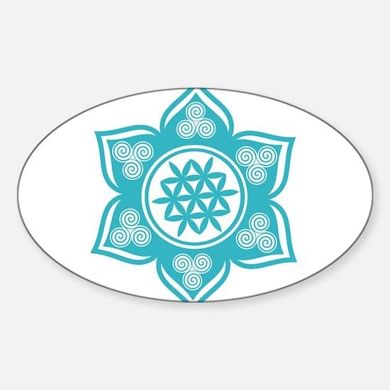 Triple Goddess Lotus Love 10 Decal