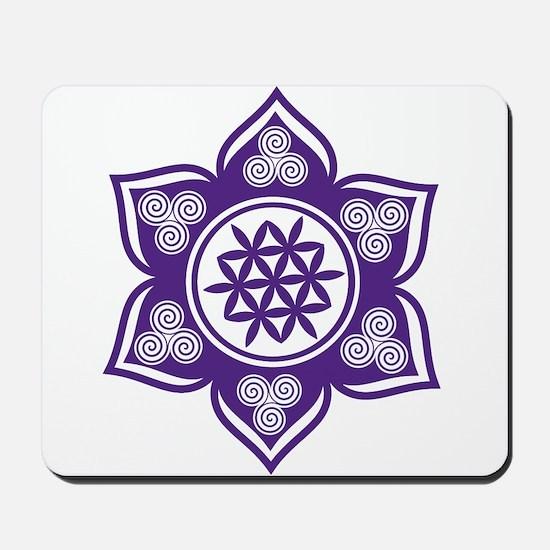 Triple Goddess Lotus Love 08 Mousepad