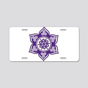 Triple Goddess Lotus Love 08 Aluminum License Plat