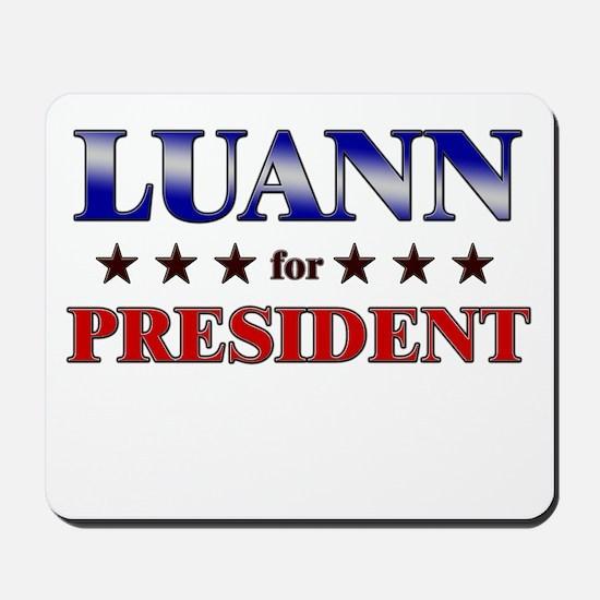 LUANN for president Mousepad