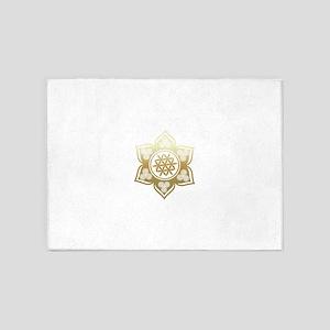 Triple Goddess Lotus Love 02 5'x7'Area Rug