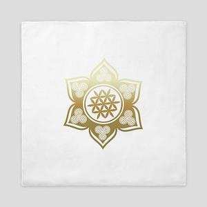 Triple Goddess Lotus Love 02 Queen Duvet