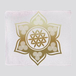 Triple Goddess Lotus Love 02 Throw Blanket