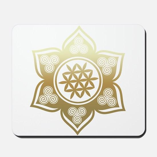 Triple Goddess Lotus Love 02 Mousepad