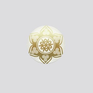 Triple Goddess Lotus Love 02 Mini Button