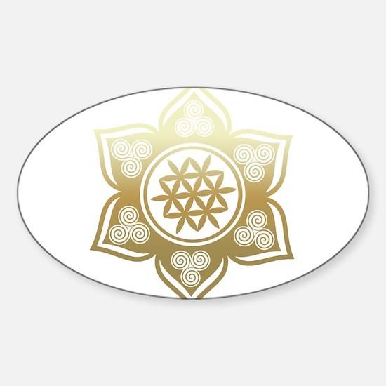 Triple Goddess Lotus Love 02 Decal