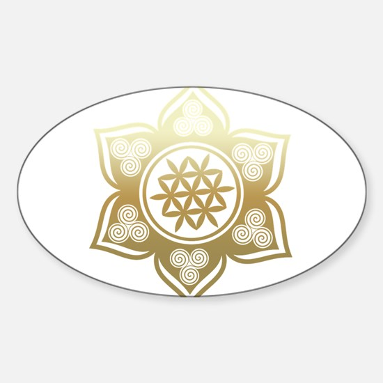 Triple Goddess Lotus Love 02 Stickers