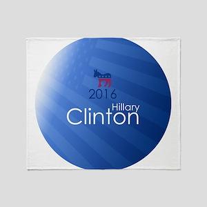 Clinton 2016 Throw Blanket