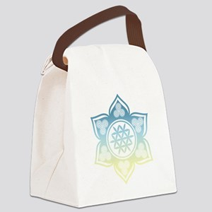 Triple Goddess Lotus Love 12 Canvas Lunch Bag