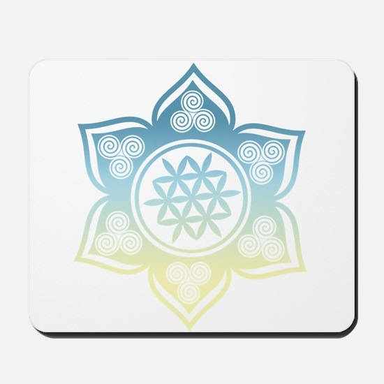 Triple Goddess Lotus Love 12 Mousepad
