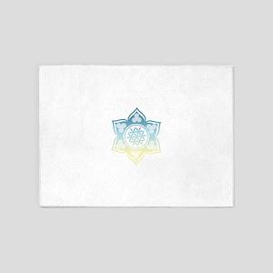 Triple Goddess Lotus Love 12 5'x7'Area Rug