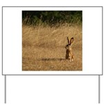Sitting Jackrabbit Yard Sign