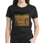 Sitting Jackrabbit Women's Dark T-Shirt