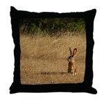 Sitting Jackrabbit Throw Pillow