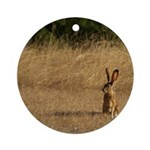Sitting Jackrabbit Ornament (Round)