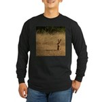 Sitting Jackrabbit Long Sleeve Dark T-Shirt