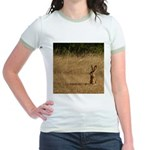 Sitting Jackrabbit Jr. Ringer T-Shirt