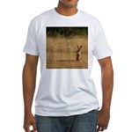 Sitting Jackrabbit Fitted T-Shirt