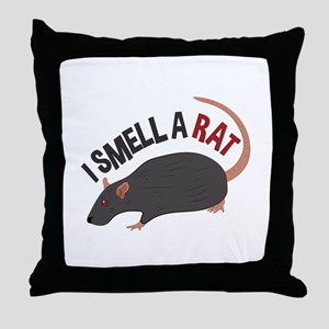 I Smell Rat Throw Pillow