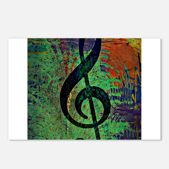 Music Clef Style Postcards (Package of 8)