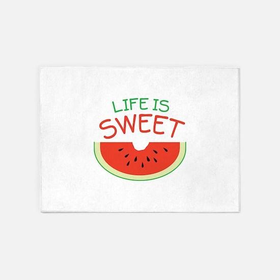 Life Is Sweet 5'x7'Area Rug