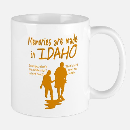Memories Idaho Black Mugs