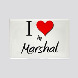 I Love My Marshal Rectangle Magnet