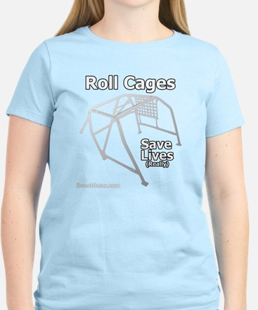 Roll Cages Save Lives - Women's Dark T-Shirt