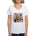 Walt Whitman Nature Quote Women's V-Neck T-Shirt