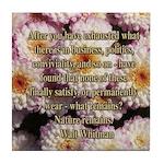 Walt Whitman Nature Quote Tile Coaster