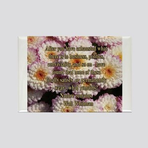 Walt Whitman Nature Quote Rectangle Magnet