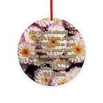 Walt Whitman Nature Quote Ornament (Round)