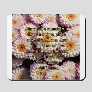 Walt Whitman Nature Quote Mousepad