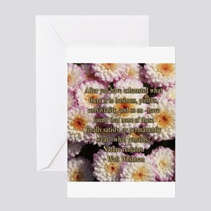 Walt Whitman Nature Quote Greeting Card