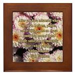 Walt Whitman Nature Quote Framed Tile