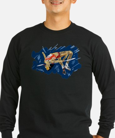 High Jumping Athlete Long Sleeve T-Shirt