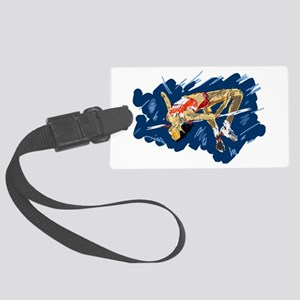 High Jumping Athlete Large Luggage Tag