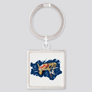 High Jumping Athlete Keychains