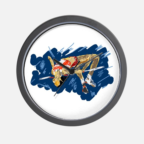 High Jumping Athlete Wall Clock