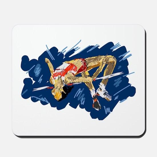 High Jumping Athlete Mousepad