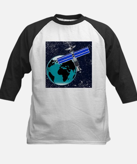 Satellite Over Earth Baseball Jersey