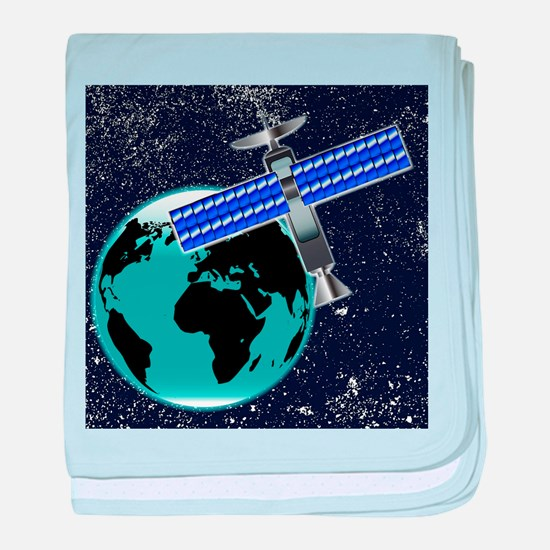 Satellite Over Earth baby blanket