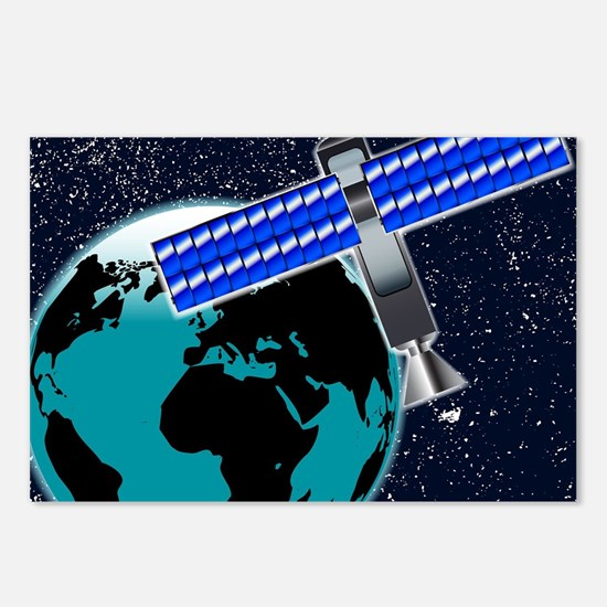 Satellite Over Earth Postcards (Package of 8)
