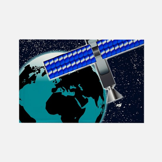 Satellite Over Earth Magnets