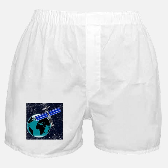 Satellite Over Earth Boxer Shorts