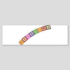 Missouri Wooden Block Letters Bumper Sticker