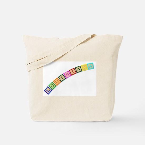 Louisiana Wooden Block Letters Tote Bag