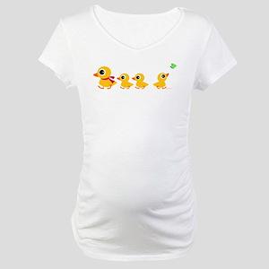 Duck Family Maternity T-Shirt