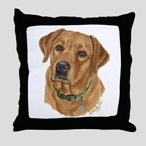 Fox Red Labrador Throw Pillow