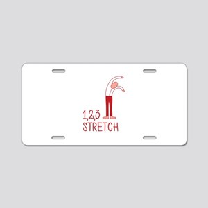 123 Stretch Aluminum License Plate